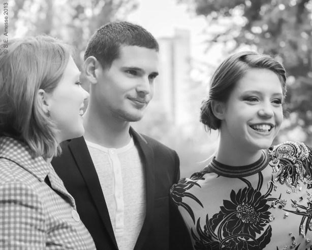De gauche à droite: Léa Seydoux, Jérémie Laheurte, Adèle Exarchopoulos