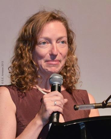 L'artiste et réalisatrice Jennifer Alleyn, présidente du jury pour les longs métrages documentaires.
