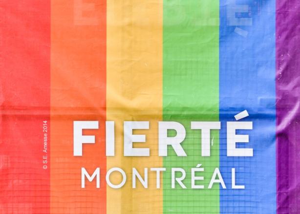 Bannière officielle de Fierté Montréal.