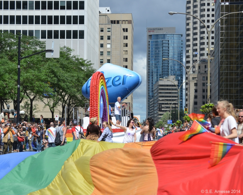 Drapeau de Capital Pride, Ottawa.