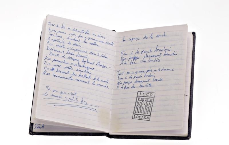 Manuscrit Les Géants, de Loco Locass, 2003. Photo : Musée McCord.