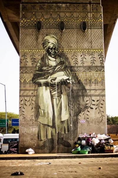 Oeuvre de la muraliste Faith47, qui sera au festival MURAL cette année.