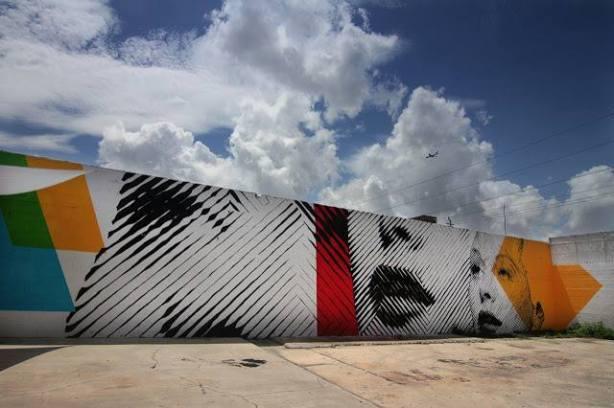 Oeuvre du duo de muralistes 2alas, qui sera au festival MURAL cette année.