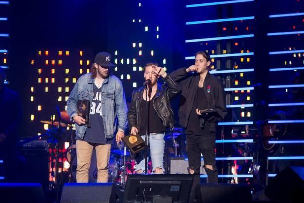 Le groupe Loud Lary Ajust a remporté le prix Musique urbaine. Photo : Frédérique Ménard-Aubin.
